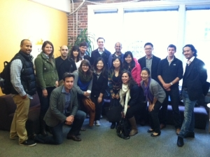 DMEC students at the Wikimedia Foundation's HQ