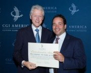 Ben Mangan with Bill Clinton at CGI America 2013