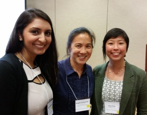 Nisha Wadhwani (Intern at Character Lab, Chicago Booth MBA 2015), Dr. Angela Duckworth (founder of Character Lab), and Amy Chou